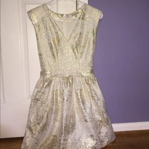 Formal white and gold dress